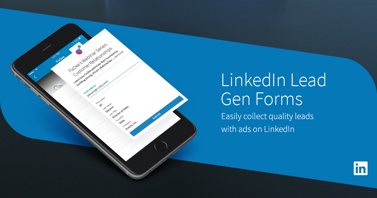 linkedin lead gen forms an easy lead generation tool linkedin
