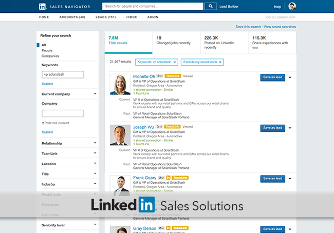 Find better prospects faster with Sales Navigator search ...