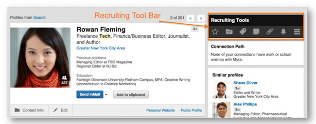 how to find recruiters on linkedin