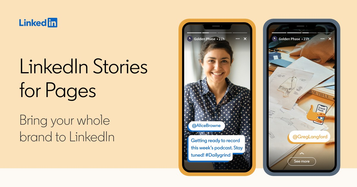 LinkedIn Stories for Pages | LinkedIn Marketing Solutions